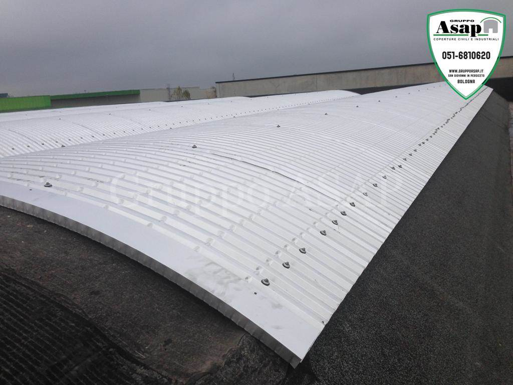Rifacimento tetto dai fibro cemento all aluzink asap
